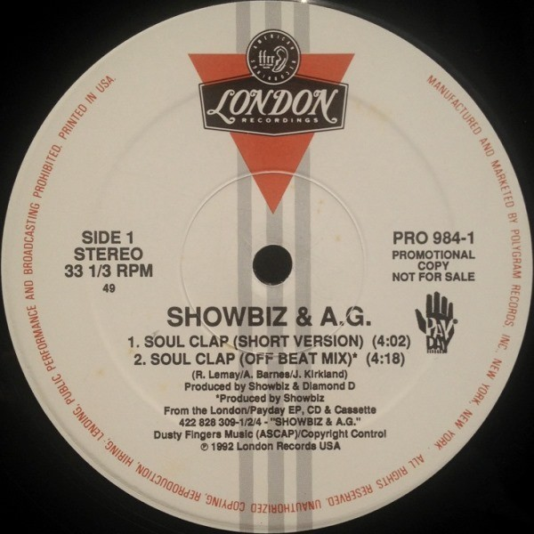 SHOWBIZ & AG - SOUL CLAP / PARTY GROOVE