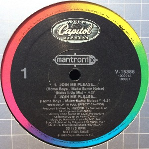 MANTRONIX - JOIN ME PLEASE... (HOME BOYS - MAKE SOME NOISE)