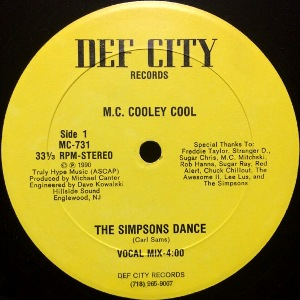 M.C. COOLEY COOL - THE SIMPSONS DANCE
