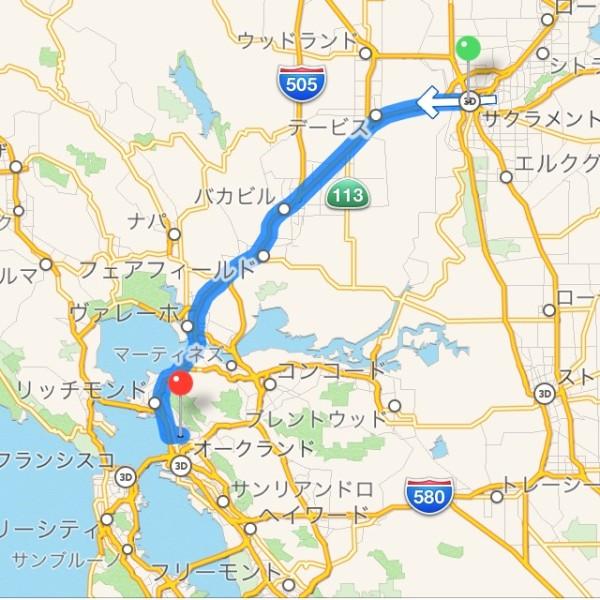 サクラメント→バークレー